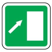 Safe Safety Sign - Door Right Up 048